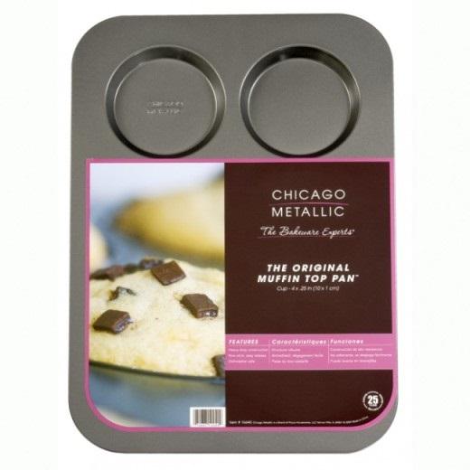 Chicago Metallic 6 Nonstick Muffin Topper Pan