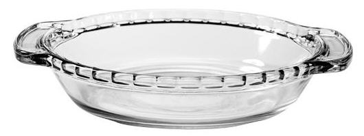 6″ Small Individual Glass Pie Plate