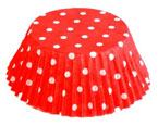 Red Polka Dots Baking Cups – 50 Count