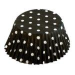 Black Polka Dot Bakecups 50-Pieces