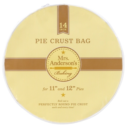 Clear Plastic Pie Crust Bag with Zipper 14″