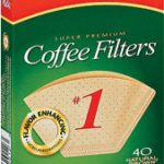 Melitta #1 Filters Unbleached 40ct