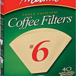 Melitta #6 Filters Unbleached 40ct