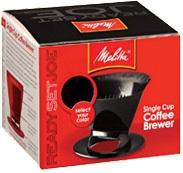 Melitta 1 Cup Black Plastic Filter Cone