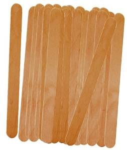 Flat Wooden Popsicle Sticks Pack of 50