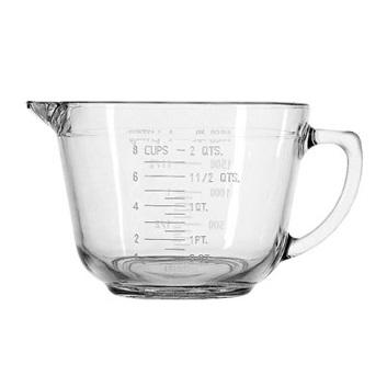 Anchor Hocking 2 Quart Glass Batter Bowl