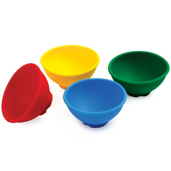 Silicone Colored Pinch Bowls s/4