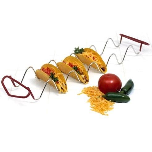 Chrome Wire Taco Rack for 6 Tacos