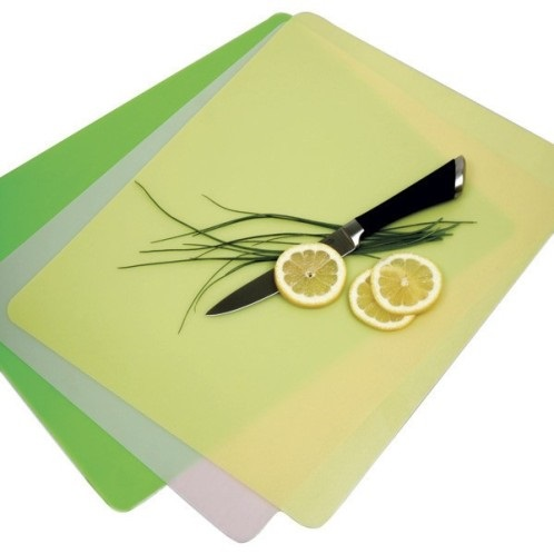 Set of Three Colored Flexible Cutting Boards
