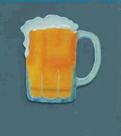 9″ Haitian Metal Art Beer Mug