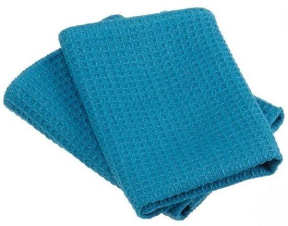 Mosaic Blue Waffle Weave Dishcloths Set of 2