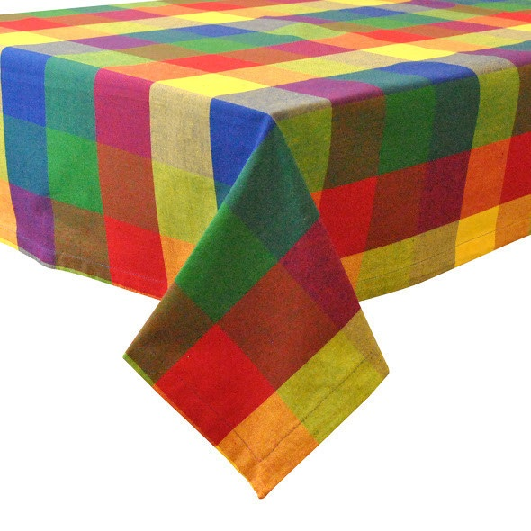 Indian Summer Check 52″ x 52″ Tablecloth