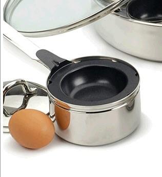 Single Stainless Egg Poacher Pan