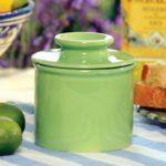 Lime Green Ceramic Butter Bell
