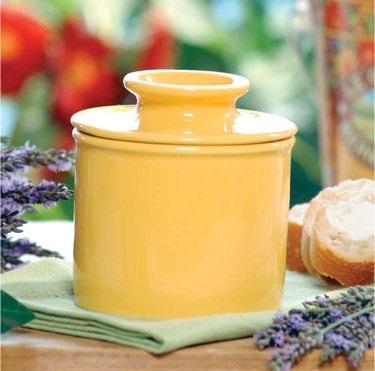 Yellow Ceramic Butter Bell