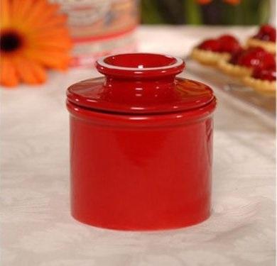 Red Ceramic Butter Bell