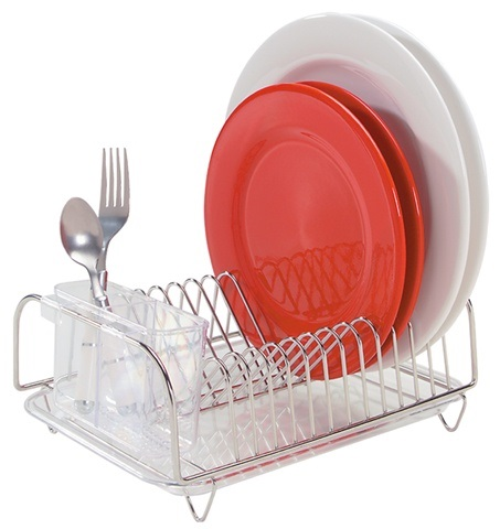 3-Piece Compact Stainless Steel Dishrack Set