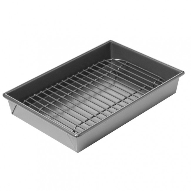Petite 10 x 7 Nonstick Broiler & Roast Pan Set