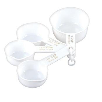 White Plastic Measuring Cups