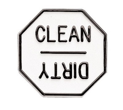 Plastic Clean/Dirty Magnet