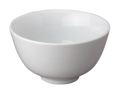 4″ White Ceramic Rice Bowl