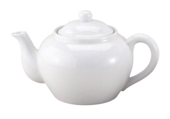 3 Cup White Teapot