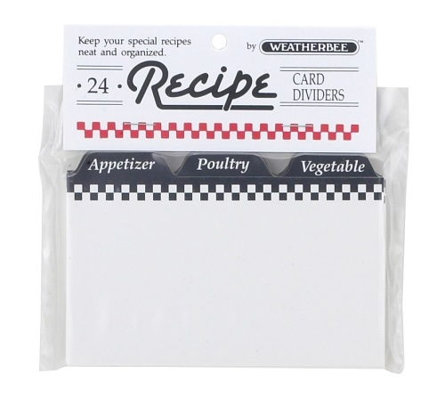 3″ x 5″ Recipe Divider Cards Pack of 24