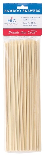 10″ Bamboo Skewers Pack of 100