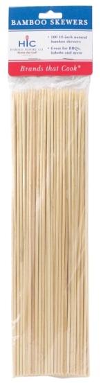 12″ Bamboo Skewers Pack of 100