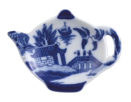 4.5″ Blue Willow Tea Bag Caddy