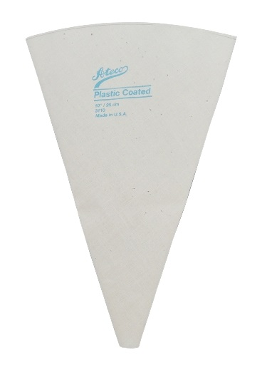 10″ Plastic Lined Canvas Pastry Bag