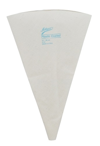 12″ Plastic Lined Canvas Pastry Bag