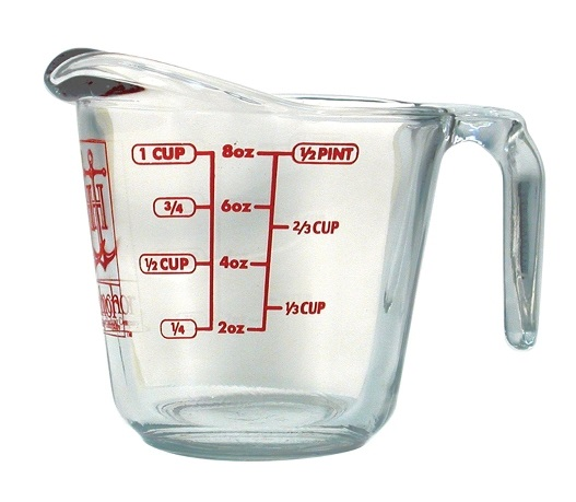 1 Cup Glass Heatproof Measuring Cup