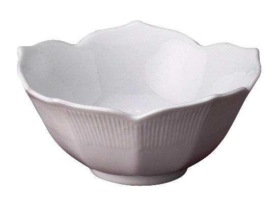 6″ White Ceramic Lotus Bowl