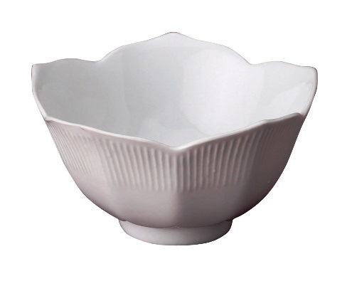 4.5″ White Ceramic Lotus Bowl