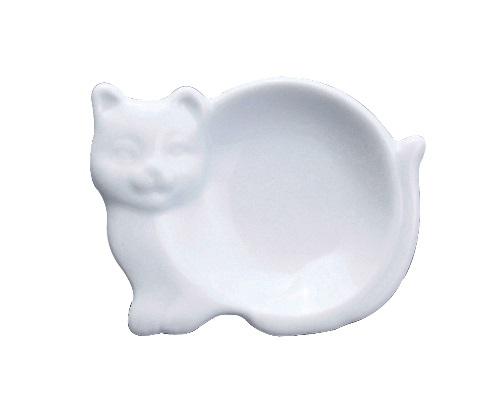 White Ceramic Cat Tea Caddy