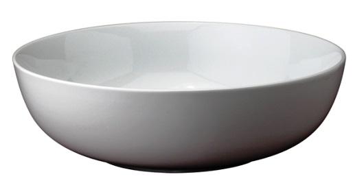 Basic White Ceramic 12.75″ x 3.5″ Pasta Bowl