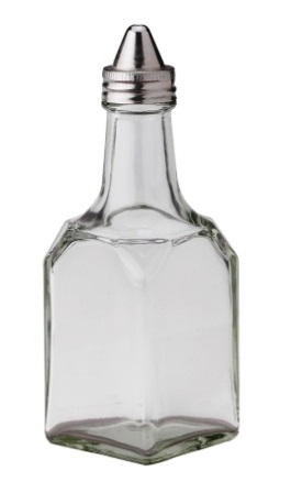 Basic Diner Glass Cruet with Stainless Top