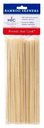 8″ Bamboo Skewers Pack of 100
