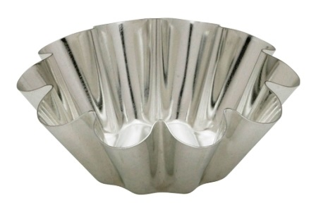 3 oz Individual Tinned Steel Brioche Mold
