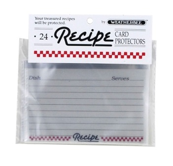 3″ x 5″ Recipe Card Protectors Pack of 24