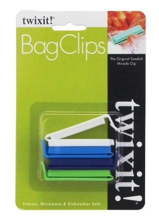 Plastic Bread Clips Pack of 4 Made in Sweden