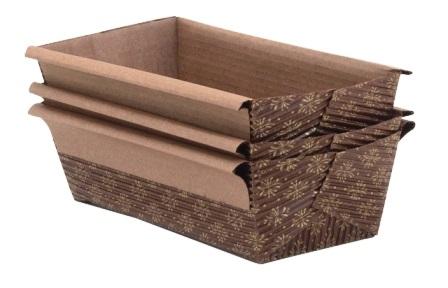 1/3 lb Disposable Paper Loaf Pan pk/3