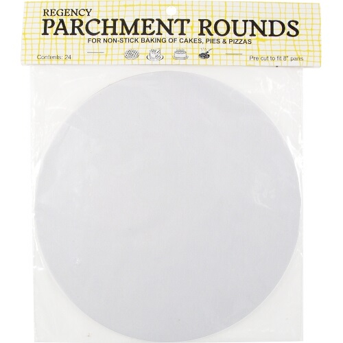 8″ Cakepan Parchment Rounds Pack of 24