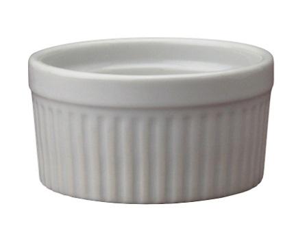 8 oz White Ceramic Ramekin