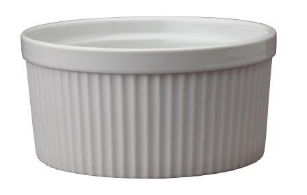 1 Quart White Ceramic Souffle