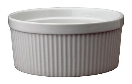 2 Quart White Ceramic Souffle