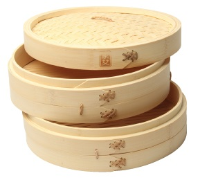 12″ Three-Piece Bamboo Steamer