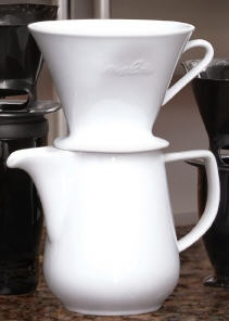 All Porcelain 6 Cup Drip Coffeemaker