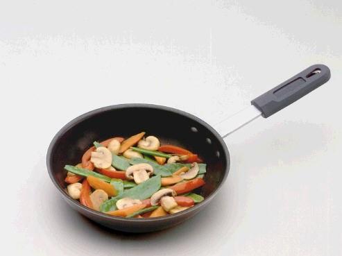 Restaurant 8″ Aluminum Nonstick Skillet with Hot Handle